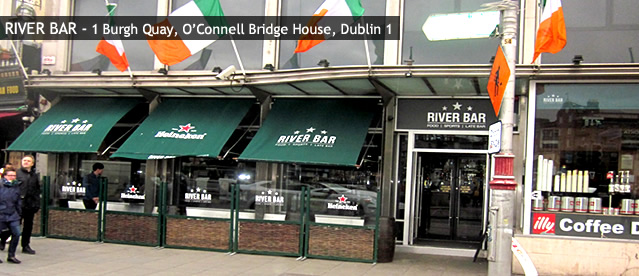 River Bar sports bars in Dublin 1 City Centre 1 Burgh Quay, O'Connell Bridge House