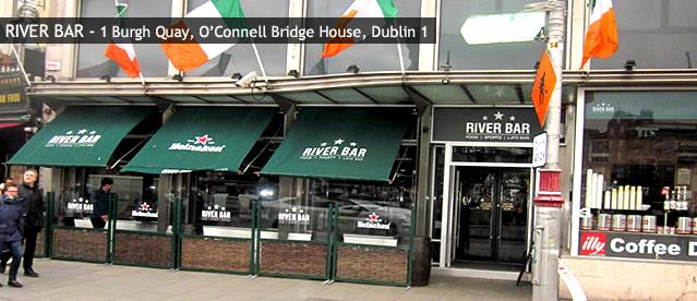River bar sports bars in dublin 1 city centre 1 burgh quay for Living room dublin